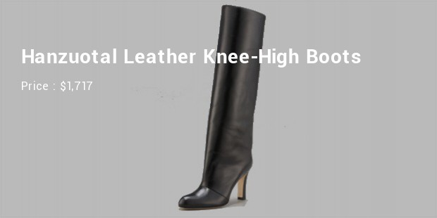 hanzuotal leather knee high boots