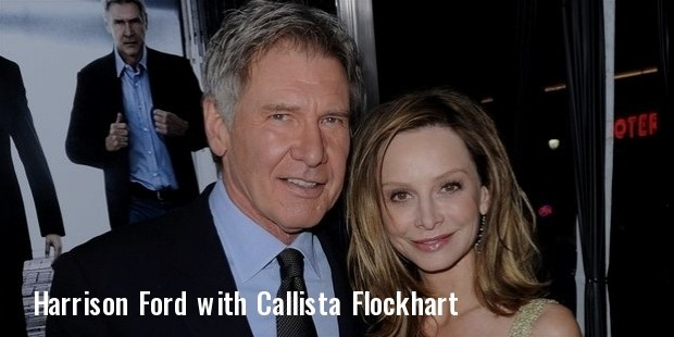 harrison ford l and fiancee calista flockhart