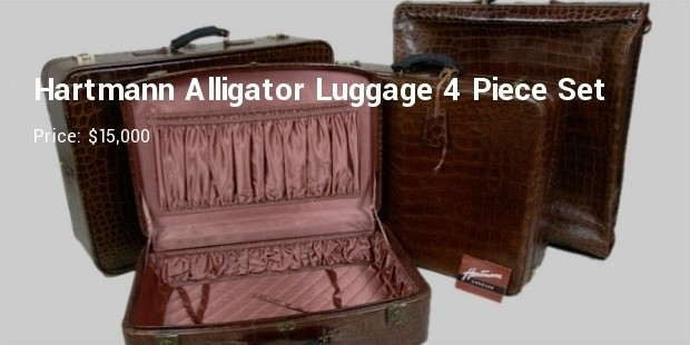 hartmann faux alligator luggage 4 piece set