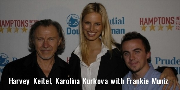 harvey keitel, karolina kurkova and frankie muniz