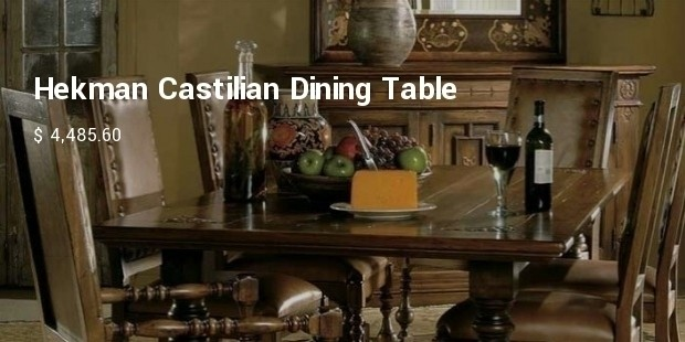 hekman castilian dining table