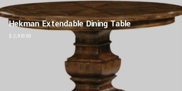 hekman extendable dining table
