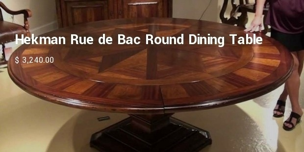 hekman rue de bac round dining table