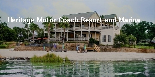 heritage motor coach resort and marina