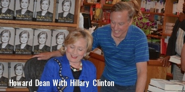 hillary clinton and howard dean