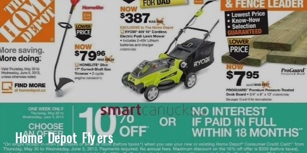 home depot flyer may 30 to jun 5 25