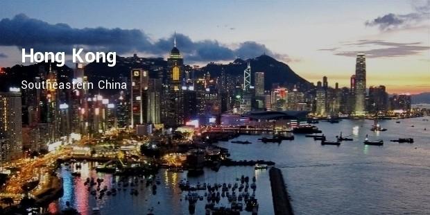 hong kong, southeastern china