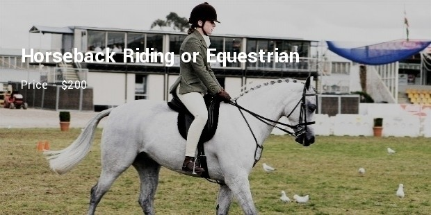 horseback riding or equestrian