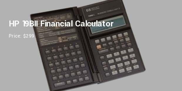 hp 19bii financial calculator
