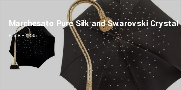 il marchesato pure silk and swarovski crystal umbrella