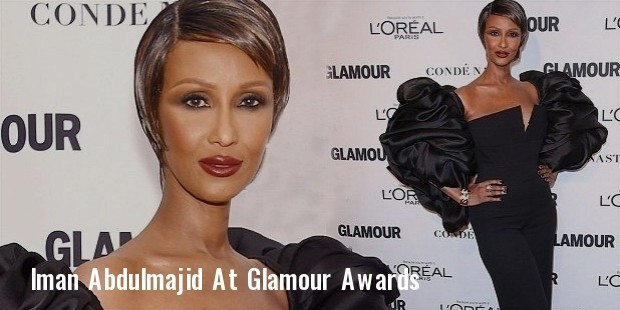 iman abdulmajid showcases her supermodel figure at the glamour awards 2015