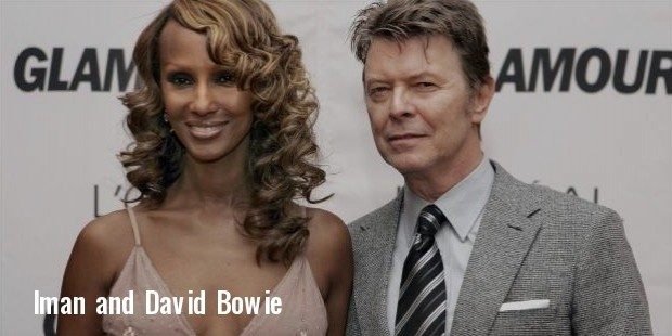 iman and david bowie at the 2006 glamour women of the year awards