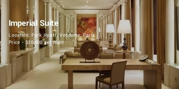 imperial suite , park hyatt, vendome