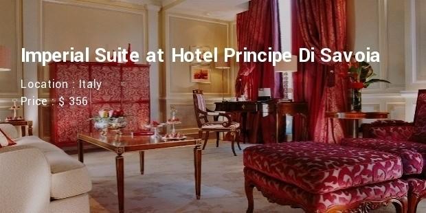 imperial suite at hotel principe di savoia italy