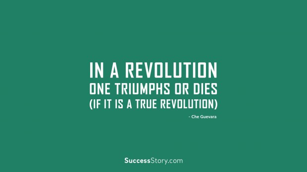 in a revolution