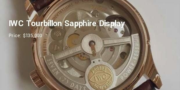 iwc tourbillon  sapphire display