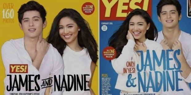 jadine james reid nadine lustre yes magazine cover february 2016 issue otwol on the wings of love clark leah