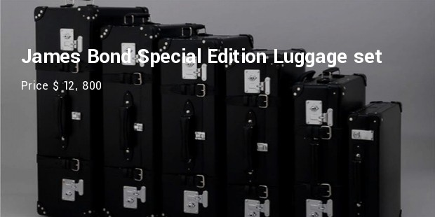 james bond special edition luggage set