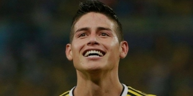 james rodriguez smiling