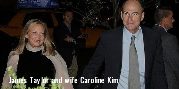 james taylor and wife caroline  kim