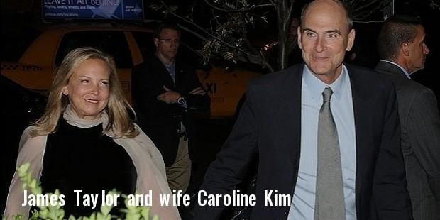 james taylor and wife caroline  kim