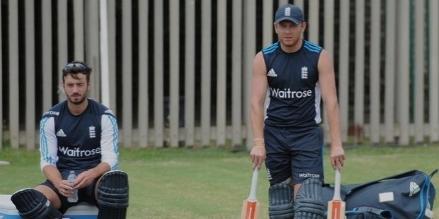 james vince  left  with jonny bairstow on england lions  tour