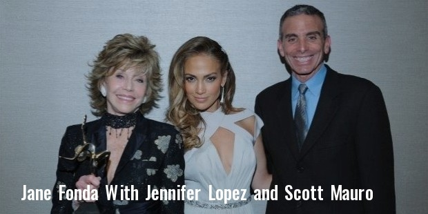 jane fonda and jennifer lopez backstage with icon event executive producer scott mauro