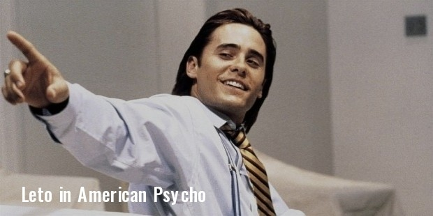 jared leto american psycho