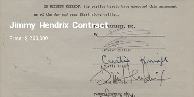 jimmy hendrix contract