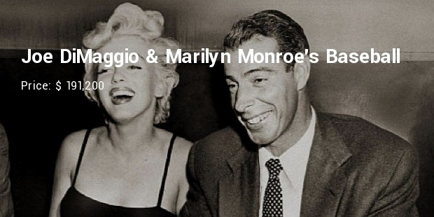 joe dimaggio   marilyn monroes baseball