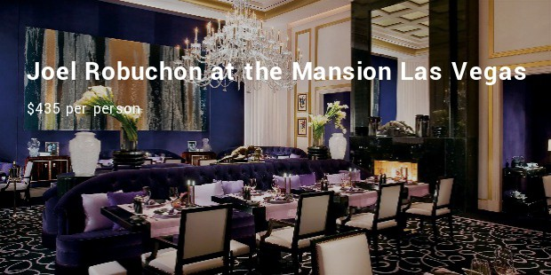 joel robuchon at the mansion  las vegas