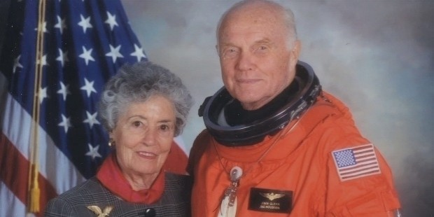 john glenn and his wife anna