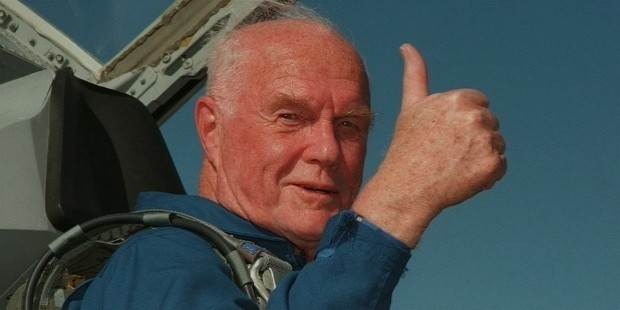john glenn war hero