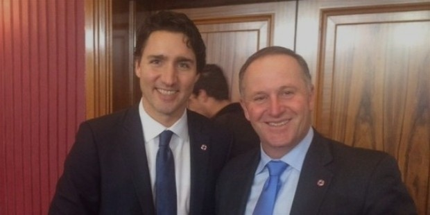john key and justin trudeau