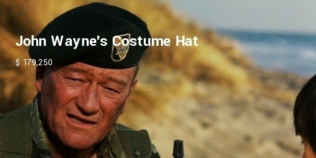 john waynes costume hat from the green berets