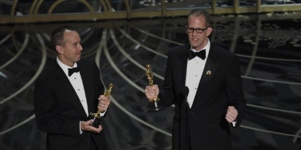 jonas rivera, left, and pete docter