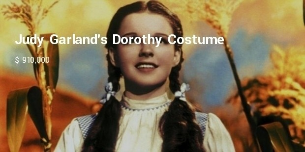 judy garlands dorothy costume from wizard of oz