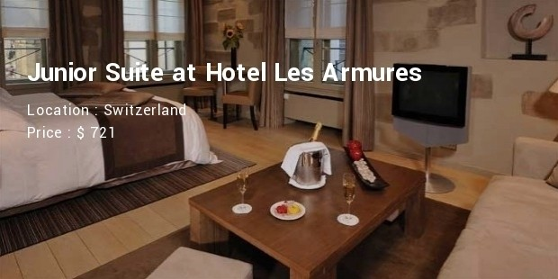 junior suite at hotel les armures