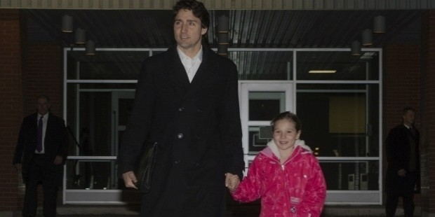 justin trudeau with his daughter ella grace