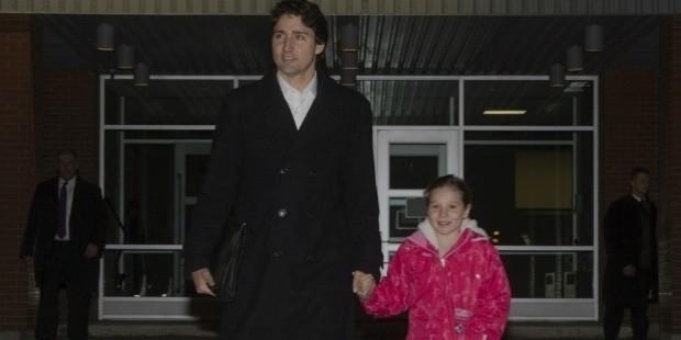 justin trudeau with his daughter ella grace