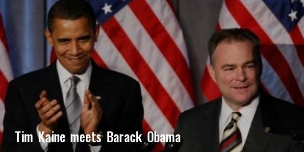 kaine with obama