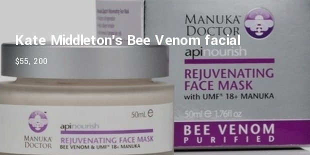 kate middletons bee venom facial