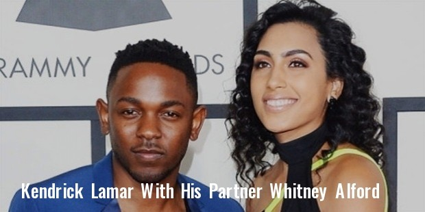 kendrick lamar has announced that he is engaged to his girlfriend of 10 years, whitney alford
