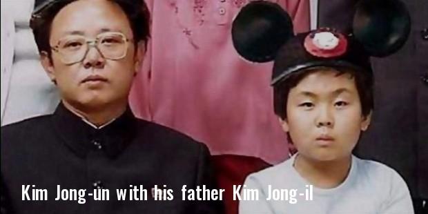 kim childhood