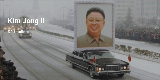 kim jong ii  $40 million