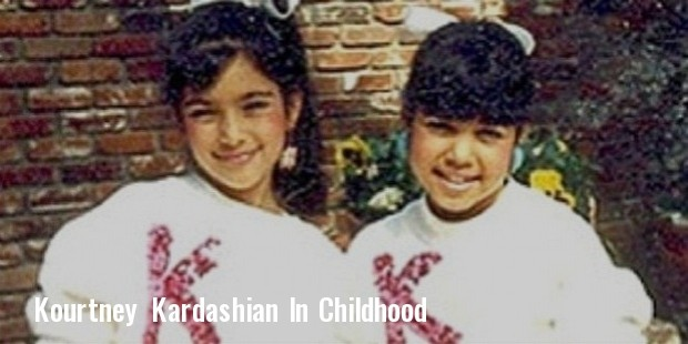 kim kardashian kourtney kardashian childhood photo
