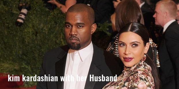 kim kardashian with her husband