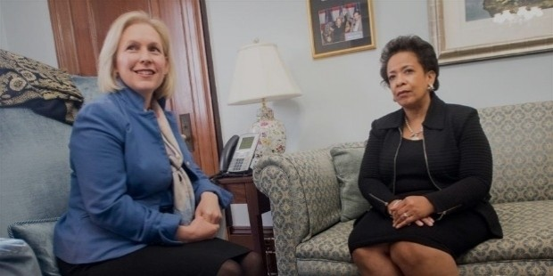 kirsten gillibrand meets with attorney general nominee loretta