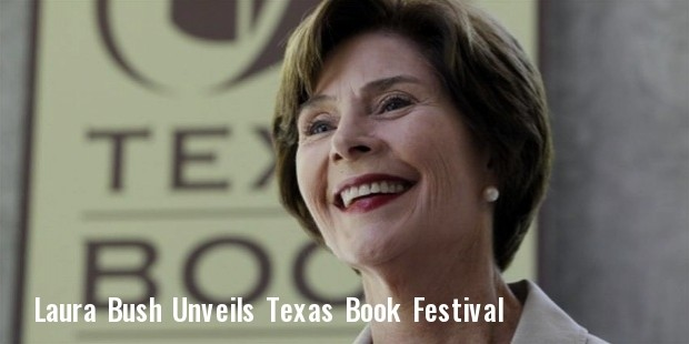 laura bush unveils texas book festival