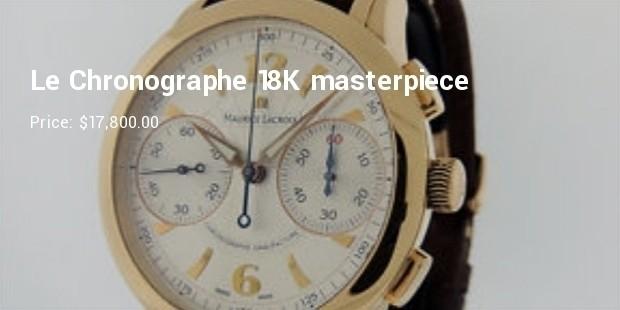 le chronographe 18k masterpiece